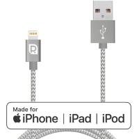 Кабель REQUIRED Braided MFI Lightning - USB Графит